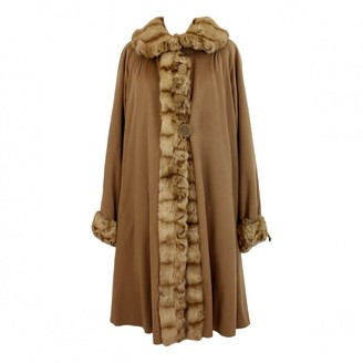 Fendi Beige Fur Coat for Women Vintage