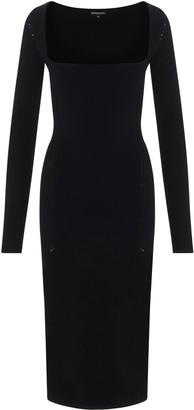Ann Demeulemeester Long Sleeve Fitted Midi Dress