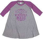 Urban Smalls Gray & Purple 'Wonderfully Made' T-Shirt Dres - Toddler & Girls