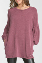 Cherish Burgundy Knit Top