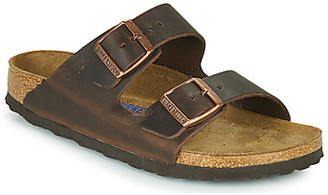 Birkenstock ARIZONA SFB LEATHER women's Mules / Casual Shoes in Brown