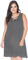 Grayson Shop Plus Size Lace Up Front Sleeveless Dress