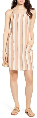 Billabong Stripe Cotton & Linen Blend Sundress