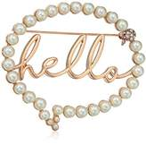 """Betsey Johnson Women's """"Hello"""" Bubble Brooches and Pin"""
