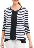 Foxcroft Striped Knit Cardigan