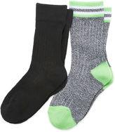 Asstd National Brand 2-pk. Crew Funky Socks- Boys