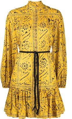 Zimmermann High Neck Floral Print Dress