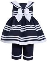 Bonnie Jean Little Girls' Navy Sailor Capri Set