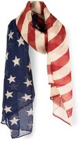 Darling's Women's Stars & Stripes Design Scarf Original