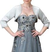 EllieHouse Women's Satin Formal Wraps Wedding Bridal Bolero Jacket WJ21 Size 6