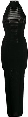 Balmain cut-out details knitted dress