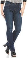 Jones New York Lexington Stretch Denim Indigo Wash Straight-Leg Jeans