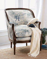 Monogrammed Toile Chair