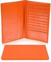 Giorgio Fedon Classica Collection - Orange Calfskin Vertical Card Holder Wallet