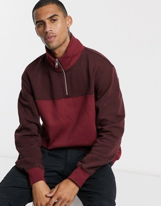 Weekday Markus blocked sweatshirt in red