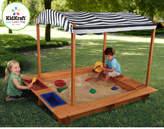 Kid Kraft 5' Rectangular Sandbox with Canopy