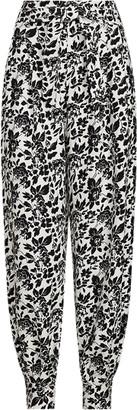 Ralph Lauren Floral-Print Silk-Blend Trousers