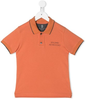 BRUNELLO CUCINELLI KIDS Logo-Print Polo Shirt
