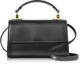 Sophie Hulme Black Leather Parker Nano Crossbody Bag