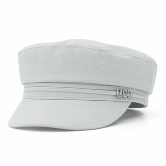 GEMVIE Women Newsboy Hat Solid Color Cotton Baker Boy Cap Cabbie Painter Beret Cap Casual Fiddler Sailor Cap Light Grey