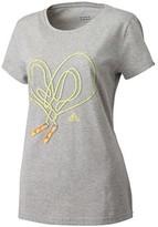 adidas Heart Tee Q12 Grey-Yellow