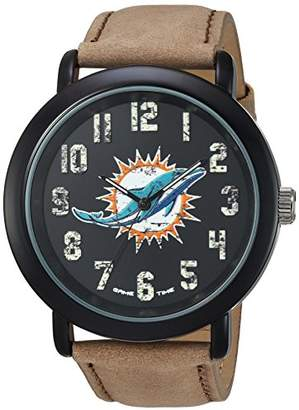 Game Time Men's 'Throwback' Quartz Metal and Leather Casual Watch