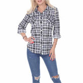 WHITE MARK White Mark Oakley Plaid Plaid Button-Front Shirt