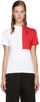 Jacquemus White & Red Square Collar T-Shirt