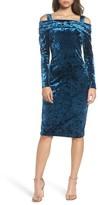 Maggy London Women's Crushed Velvet Off The Shoulder Dress