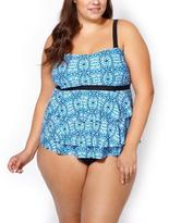 Penningtons Sea - Printed Ruffled Tankini Swim Top