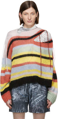 Charles Jeffrey Loverboy Multicolor Mohair Slash Sweater