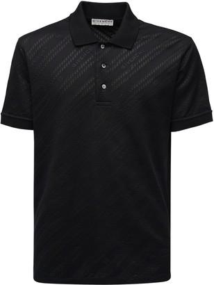 Givenchy Logo Jacquard Viscose & Cotton Polo