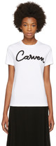 Carven White Grosgrain Logo T-Shirt