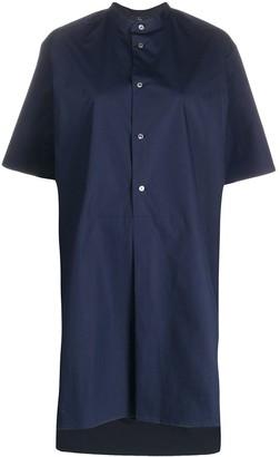 Fay Oversized Collarless Shirt Dress