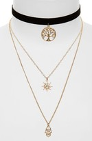 Topshop Women's Tree Of Life Layer Necklace
