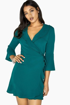 Outrageous Fortune Green Wrap Dress