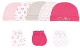 Luvable Friends Pink & White Cutie Beanie & Mitten Set