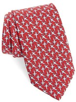 Vineyard Vines Shark Frenzy Silk Tie