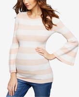 A Pea in the Pod Maternity Bell-Sleeve Sweater