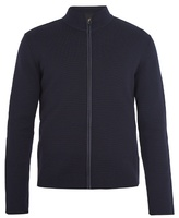 PRADA High-neck zip-through wool sweater