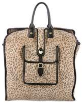 Mayle Leather-Trimmed Printed Tote