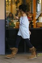 Kettle Black Tall Fringe Boots in Chestnut