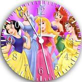 "Rusch Disney Princess Wall Clock 10"" Will Be Nice Gift and Room Wall Decor W107"