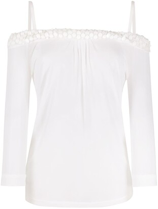 Gianfranco Ferré Pre Owned 1990s Bead-Embroidery Off-The-Shoulder Blouse