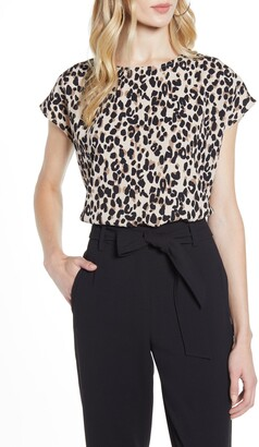 Halogen Cap Sleeve Blouse