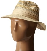 Vince Camuto Striped Fedora Hat