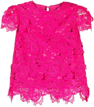 Milly Floral-Lace Top