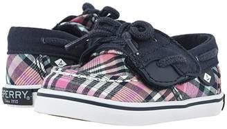 Sperry Kids Bluefish Crib Jr (Infant/Toddler) (Plaid Navy) Girl's Shoes