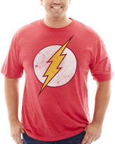 JCPenney Novelty T-Shirts DC Comics Flash Graphic Tee - Big & Tall