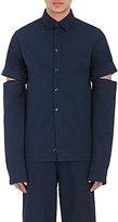 Hood by Air Men's Drill Work Shirt-NAVY